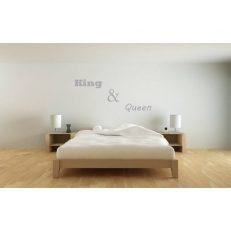 Muursticker slaapkamer king & queen k222