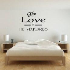 Muursticker slaapkamer the love & the memories k133