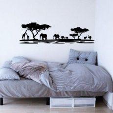Muursticker slaapkamer Afrika Dieren k107