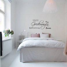 Muursticker slaapkamer Bonjour Goedemorgen Good morning Buenos k481