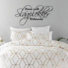 Muursticker slaapkamer Droom zacht Slaaplekker Welterusten k249