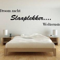 Muursticker slaapkamer Droom zacht slaaplekker welterusten k125
