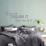 Muursticker slaapkamer If you can dream it You can do it 2e versie k399