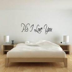 Muursticker slaapkamer P.S I Love You k193