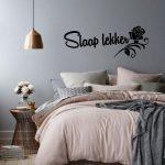 Muursticker slaapkamer Slaap lekker met roos k279