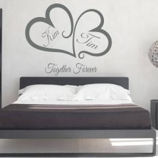 """Muursticker voor slaapkamer met eigen namen en tekst """"Together Forever"""""""