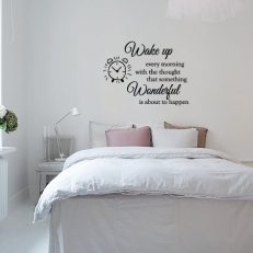 Muursticker slaapkamer Wake up every morning with the thought that someting wonderful is about to happen k