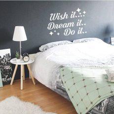 Muursticker slaapkamer Wish it.... Dream it.. Do it.. k364