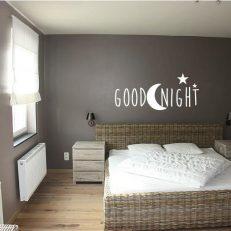 Muursticker slaapkamer goodnight k354