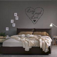 Muursticker slaapkamer live laugh love k036