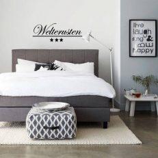 Muursticker slaapkamer welterusten inclusief sterren k296