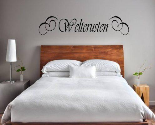 Muursticker slaapkamer welterusten sierlijk k130