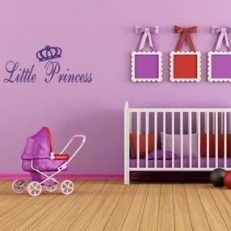 muursticker baby- kinderkamer Little princess k051