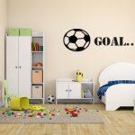 muursticker baby- kinderkamer Voetbal met slogan Goal k057