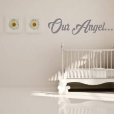 muursticker baby- kinderkamer our angel....k071