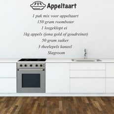 muursticker keuken Appeltaart recept k063