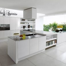 muursticker keuken Bon Appetite met Eiffeltoren k002