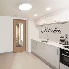 muursticker keuken Kitchen heart of the home k010