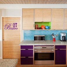muursticker keuken bistro inclusief bestek k007