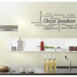 muursticker keuken onze keuken woorden k315