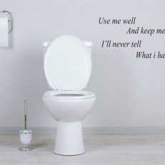 muursticker toilet use me well and keep me clean k135