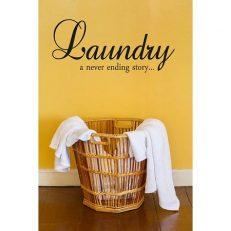 muursticker wasruimte laundry a never ending story k142