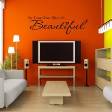 muursticker woonkamer Be your own kind of... Beautiful k022