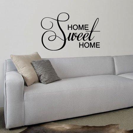 Muursticker Home Sweet Home.Muursticker Tekst Home Sweet Home K014a