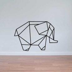 Muursticker. Geometrisch. De Olifant. In diverse kleuren en afmetingen