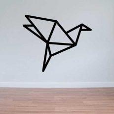 Muursticker. Geometrisch. De Vogel. In diverse kleuren en afmetingen