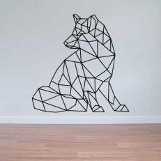 Muursticker. Geometrisch. De Wolf. In verschillende kleuren en afmetingen