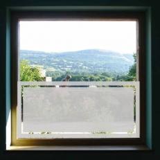 Raamfolie sticker voor ramen. Blanko raamfolie sticker inclusief één lijn