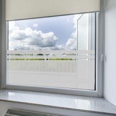 Raamfolie sticker blanko met twee lijnen voor uw overige ramen.