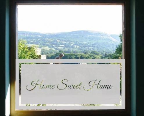 Raamfolie sticker voor ramen. Raamfolie inclusief tekst Home Sweet Home