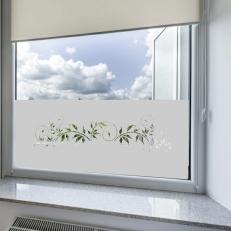 Raamfolie sticker voor ramen. Raamfolie sticker inclusief een sierlijke tak