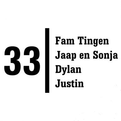 voordeur stickers huisnummer achternaam en voornamen E19