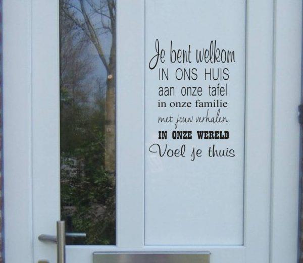 voordeur stickers je bent welkom in ons huis E280