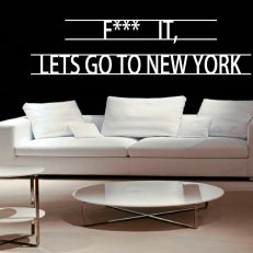 Muursticker. Overig. F*** it, Lets go to New York. QS066