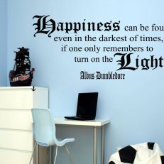 Muursticker. Harry Potter. Albus Dumbledore Quote. Happiness can be etc.