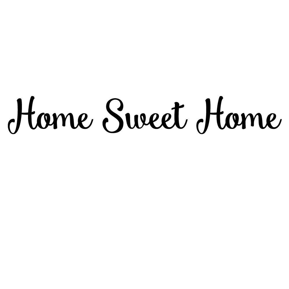 Muursticker Home Sweet Home.Muursticker Met De Tekst Home Sweet Home Oost West Thuis Best