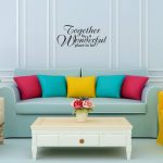 "Muursticker met de tekst ""Together is a wonderful place to be"""