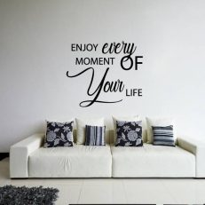 "Muursticker met de tekst ""Enjoy every moment of your life"""
