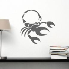 """Muursticker van het sterrenbeeld """"Schorpioen"""" voor uw diverse kamers"""