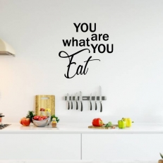 Muursticker. Tekst: You are what you eat. K545