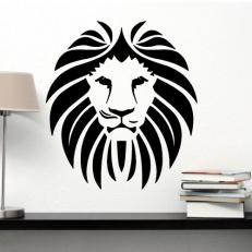 Muursticker. Voor diverse kamers. Onderwerp: De kop van een leeuw