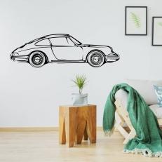 Muursticker. Voor diverse kamers. Onderwerp: Auto. Porsche Carrera