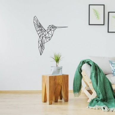 Origami Muursticker. De Kolibri. In verschillende kleuren en afmetingen