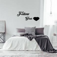 Muursticker. Tekst: Follow your (incl. hart) K064A