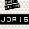 Poster. In A4 en A3 formaat. Tekst: Sweet Dreams. Inclusief eigen naam