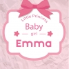 Poster. A4 en A3 formaat. Tekst: Little princess. Baby-girl. Incl. eigen naam